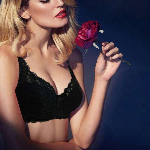 Women Push Up Bra Deep V Underwire Lightly Lined Brassiere Plus Sz 32-44 ABCDE