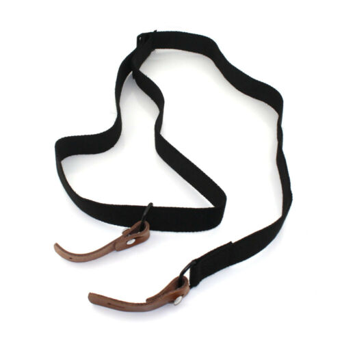 Adjustable Tactical Two Point Rifle Sling with Leather Strip