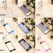 iPhone / Front Back Color Shiny Mirror Tempered Glass Screen Protector.
