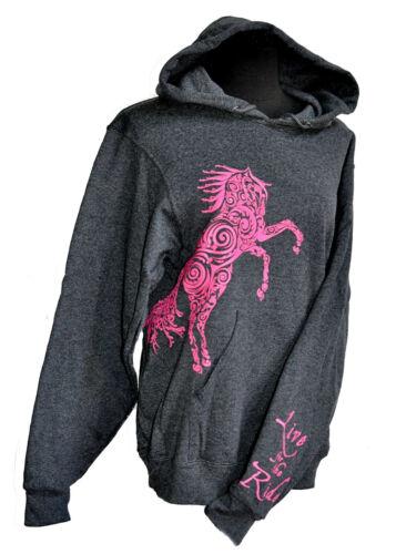 Paisley Pony zentangle Horse Hoodie Horse Sweatshirt LIVE for the RIDE