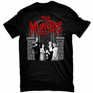 MUNSTERS-T-Shirt-Family-Portrait-w-Red-Logo-Tee-New-Authentic-S-2XL