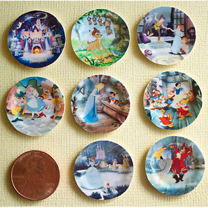 Image is loading Miniature-Disney-Paper-Plates-1-12-Scale-Alice-  sc 1 st  eBay & Miniature Disney Paper Plates 1:12 Scale Alice Bambi Snow White ...