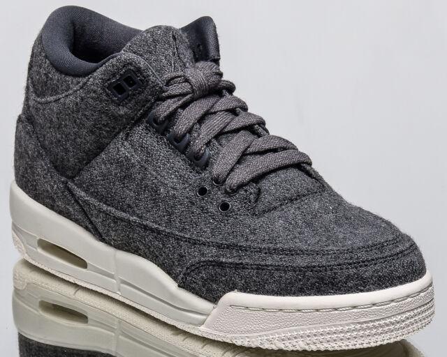 8bf415372f59 Air Jordan 3 Retro BG Wool III youth lifestyle sneakers NEW grey 861427-004