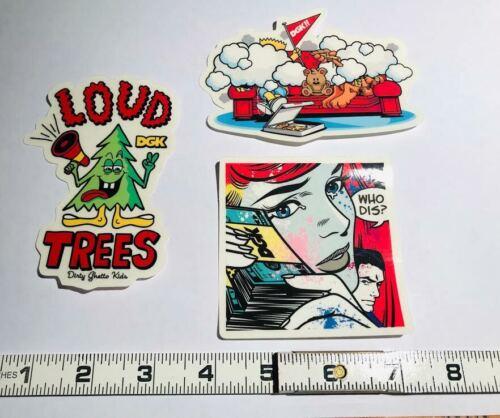 DGK 3 sticker pack includes 3 stickers
