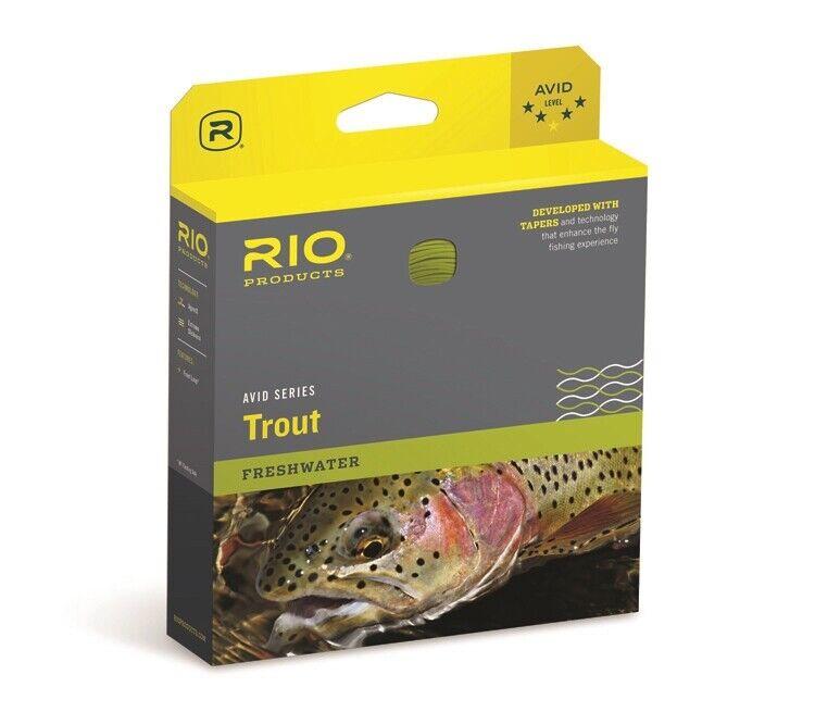Rio Avid Trout Fly Line  WF6F  nuovo   gratuito SHIPPING