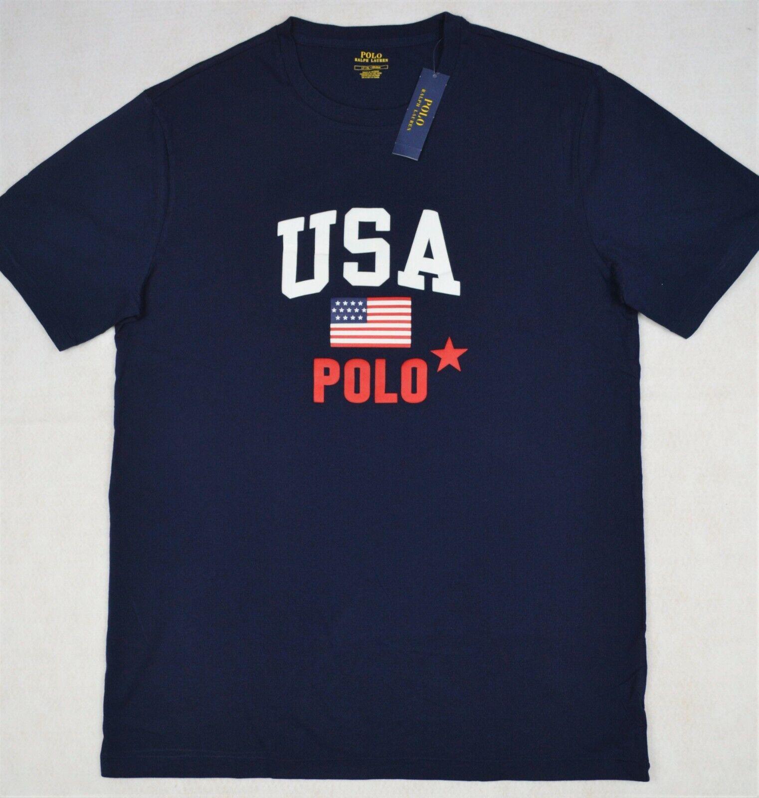 Polo Ralph Lauren TShirt Navy USA Flag Tee Shirt LT & XLT Tall NWT