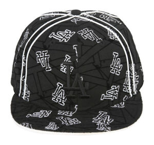 New-Era-Custom-Los-Angeles-Dodgers-Fitted-Cap-Black-White