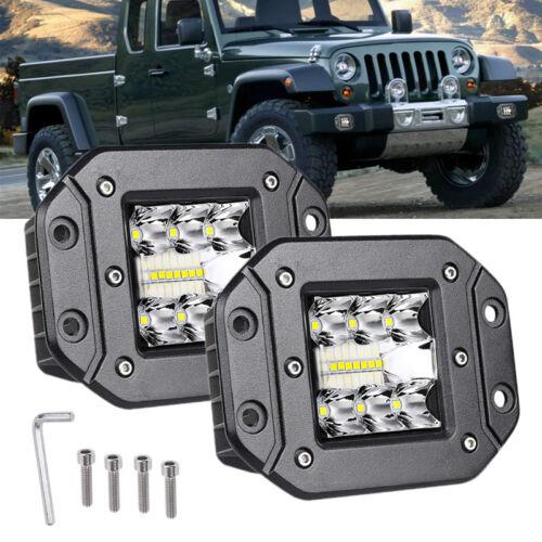2X 39W Spot Flood Led Work Light Car Truck Lamp SUV Flush Mount Bumper Universal