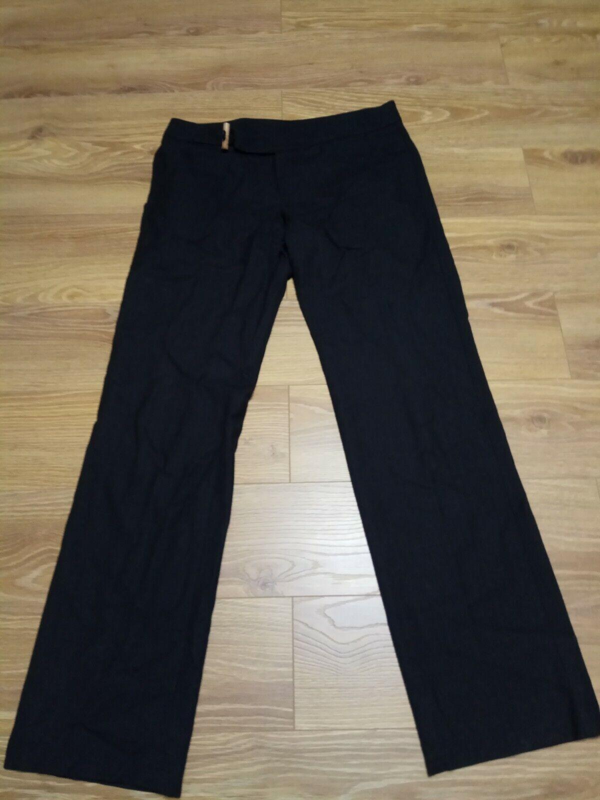 Hugo Boss James Black/grey Wool Dress Pants Micro… - image 2