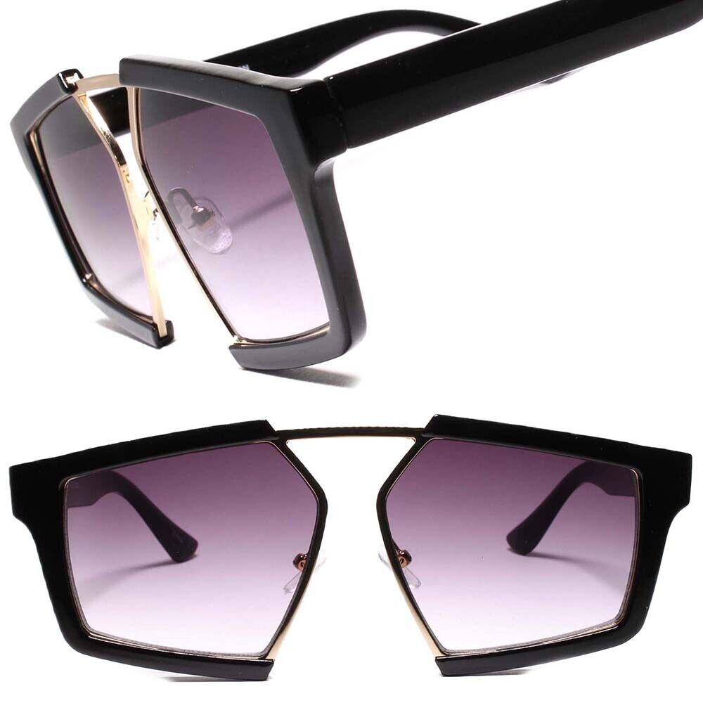 Designer Stylish Sophisticated Modern Chic Sexy Womens Black Frame Sunglasses