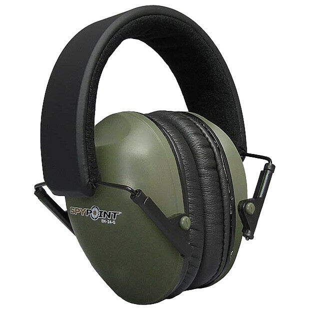SPYPOINT EM-24 EAR MUFFS SHOOTING HUNTING SEALED HEARING LIGHT DEFENDERS GREEN