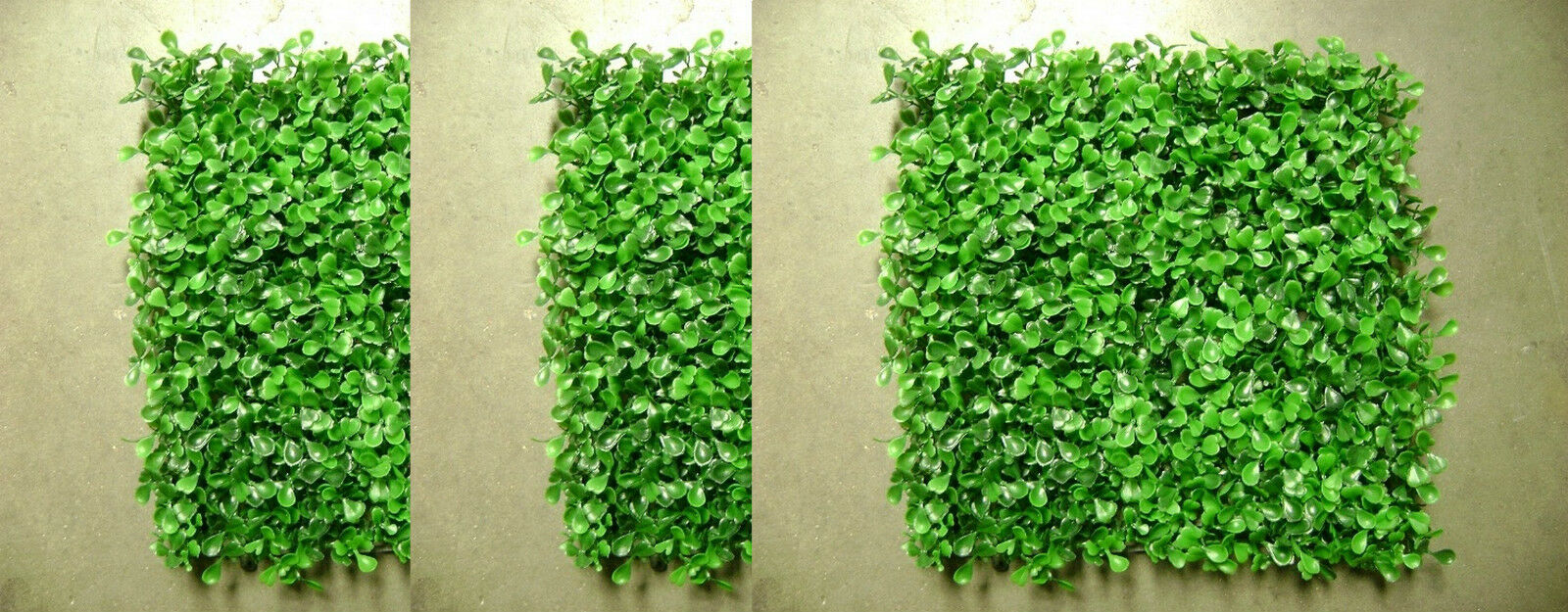 24 ARTIFICIAL IN OUTDOOR UV BOXWOOD MAT PATIO TURF HEDGE GRASS WALL FENCE PORCH