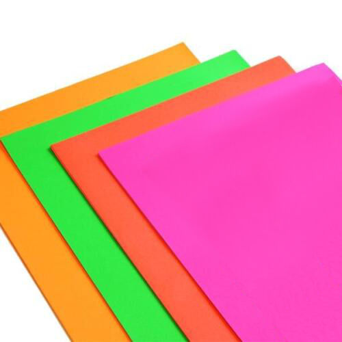 A Fluorescent Neon Card Paper  Sheets Craft Scrapbook Flourescent