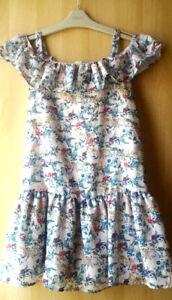 Prochain Filles Floral Ouvert épaule Robe Âge 13 Ans Bnwt-afficher Le Titre D'origine RafraîChissant Et BéNéFique Pour Les Yeux