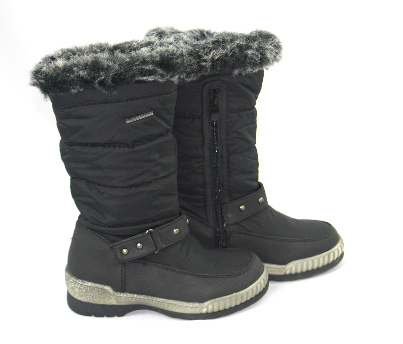 GIRLS KIDS WOMEN WARM FUR LINED WINTER QUILTED WATERPROOF SNOW BOOTS SHOES SIZE