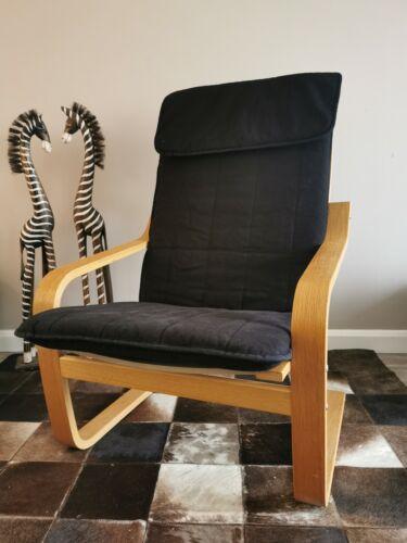 IKEA Poang Rocking Chairs x 2 - Black cushion - adult chairs