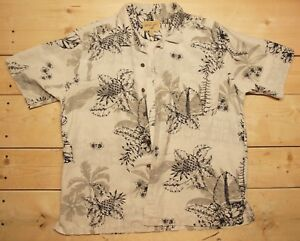 ab203ee3 Havana Jack's Cafe sz XL Hawaiian Aloha Shirt Men's Floral 100% SILK ...