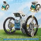 14in1 Rechargeable Assembly Solar Power Car Robot Boat Teaching Kit Toy Kid Gift