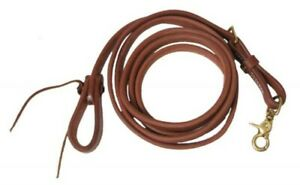 Showman-5-8-034-X-8-039-Oiled-Harness-Leather-Adjustable-Roping-Rein-NEW-HORSE-TACK