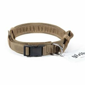 HEAVY-DUTY-1-5-034-Tactical-Adjustable-Dog-Collar-w-Metal-Buckle-Medium-Large-Dogs