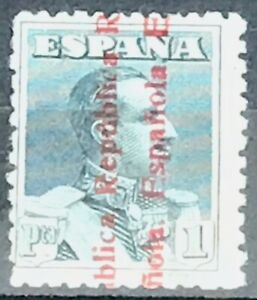 Spain-487-MNH-CV-152-00-Alfonso-XIII-Republic-Overprint