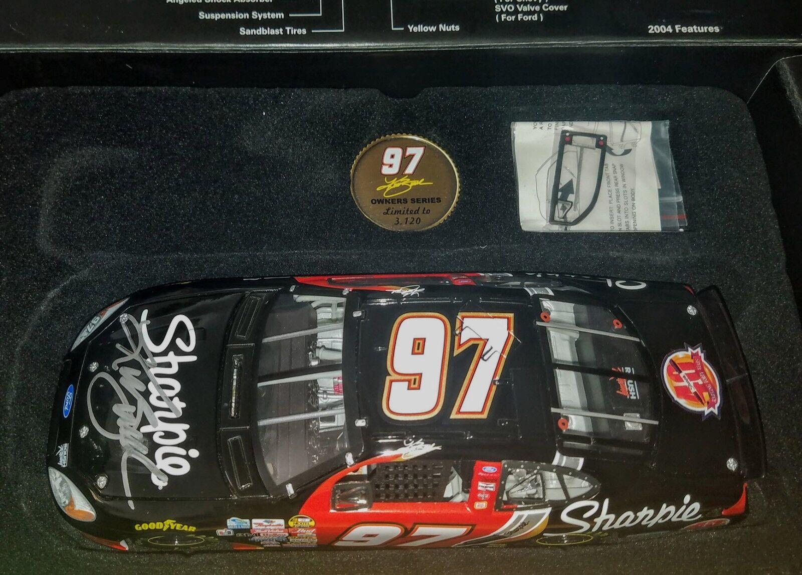 2004 Kurt Busch Sharpie 40th anniversary 1 24 SIGNED Owners Diecast NASCAR