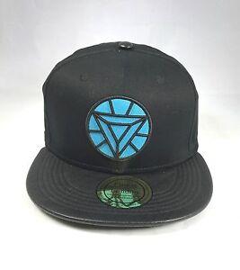 BLUE DIAMOND WITH BLACK LEATHER PEAK SNAPBACK FLAT PEAK BASEBALL CAP ... 2f892664646