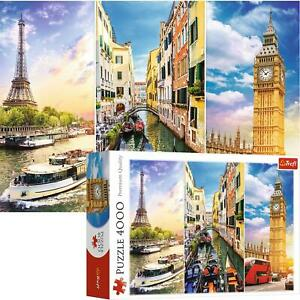 Trefl 4000 Piece Jigsaw Puzzle Physical Trip around Europe