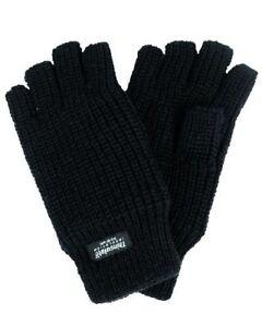 Halbfinger Handschuhe GOTHIC 80er Kult Fingerlinge Thinsulate Fütterung