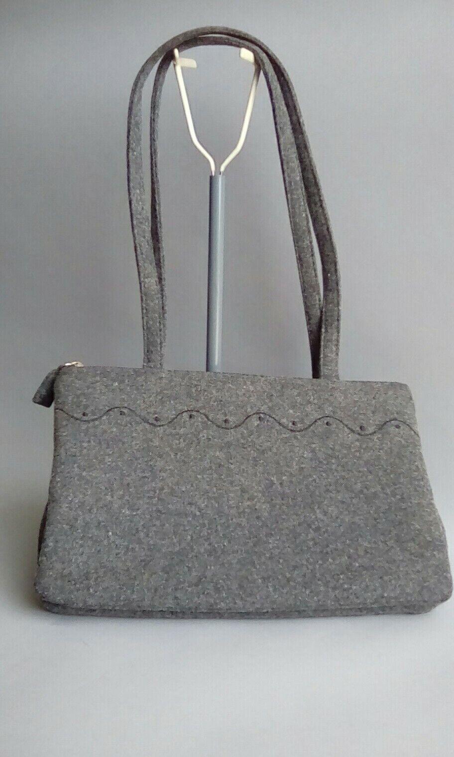 Mondani New York Grey Wool envelope style handbag