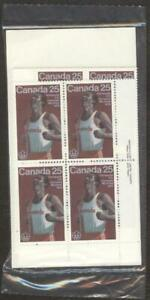 Canada Stamps # 665, 25¢, 197, 4 inscription corner plate blocks of 4 MNH Stamps
