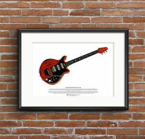 Brian-May-039-s-Red-Special-ART-POSTER-A3-size