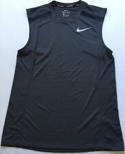 Nike Men's Sleeveless Dri-Fit Running Top BQ5324 Dark Grey 010 Size XL