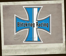 Blitzkrieg Racing Iron Cross Sticker Original Aufkleber Autocollante cox bls