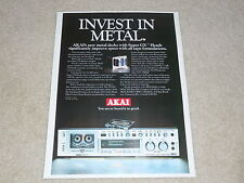 Akai GX-F90 Super GX Head Ad, 1978, 1 page, Article, Info