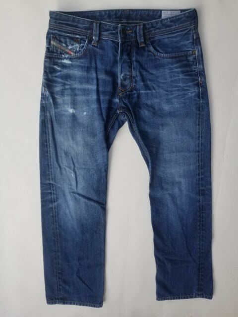 f4118d76 Diesel Industry Larkee 0073N Mens Distressed Regular Straight Leg Jeans 32  X 30