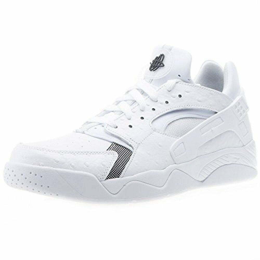 Nike Men's Air Flight Huarache Basketball shoes (Low) White Black