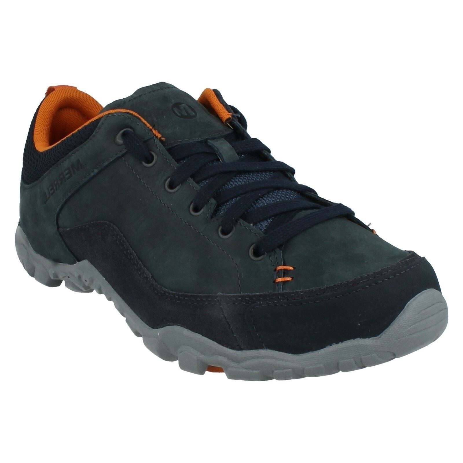 Hombre MERRELL LACE UP UP UP NAVY LEATHER WALKING Zapatos TRAINERS TELLURIDE LACE 1065f9