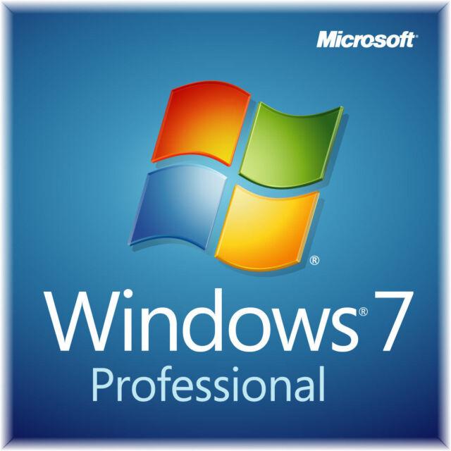 Microsoft Windows 7 Professional SP1 64-Bit DVD + Genuine Product Key & COA