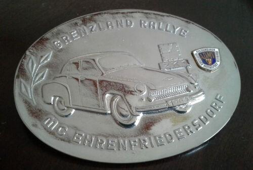 Wartburg 311 Grenzland Rallye 1964 DDR ADMV Plakette Emblem NEU /& SELTEN
