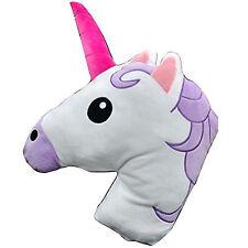 Unicorn Shaped Cushion Plush Filled Emoji Emoticon Pillow - Super Soft & Comfy!