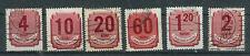 Briefmarken Ungarn 1946 Portomarken Mi.Nr.179-81+85-87