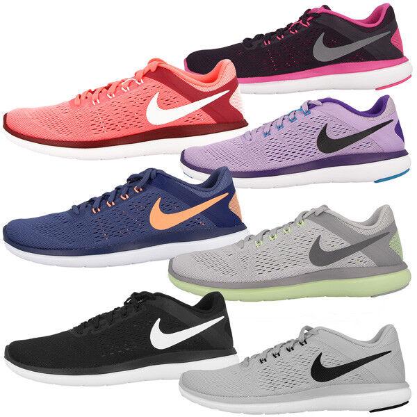 Zapatos promocionales para hombres y mujeres Nike Flex 2016 Run Women Schuhe Laufschuhe Damen Sport Freizeit Sneaker Free BRS