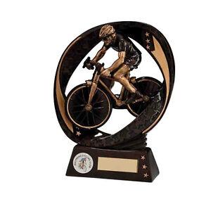 Star Blast Cycling Trophies Bike Awards 3 sizes FREE Engraving