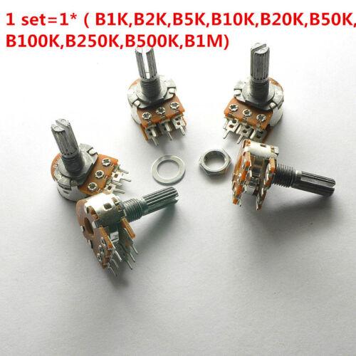 10Pcs WH148 6 Pin Dual Stereo Potentiometer 1K 2K 5K 10K 100K 250K 500K 15mm