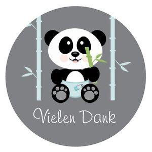 VIELEN DANK Aufkleber THANK YOU Sticker - für Geburtstag, Weihnachten, Hochzeit