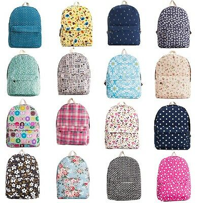 New Arrivals Hot Floral Print Canvas backpack College fashion casual school bag