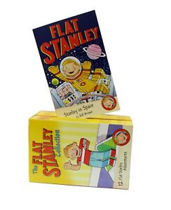 Flat-Stanley-Adventures-Series-12-Books-Children-Box-Set-Paperback-By-Jeff-Brown