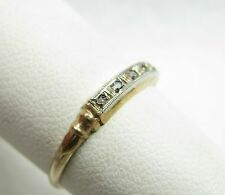 Antique 10k Gold 5 Diamond Wedding Anniversary Band Ring Size 6