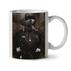 Mr Bear Beast Wild NEW White Tea Coffee Mug 11 oz   Wellcoda